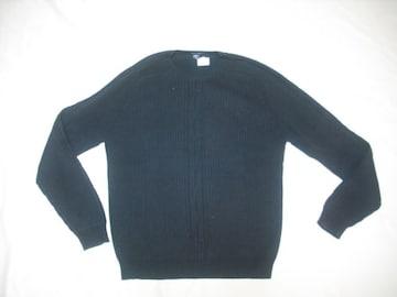 21 男 NAUTICA ノーティカ 黒 セーター M