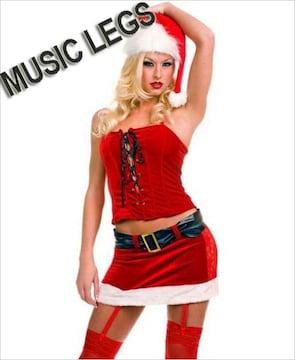 A354)クリスマス☆MusicLegsサンタクロースコスチュームMLコスプレダンス衣装GOGOダンサー