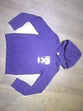 エックスガール/パーカー/フード付/サイズ1=Sサイズ/紫色