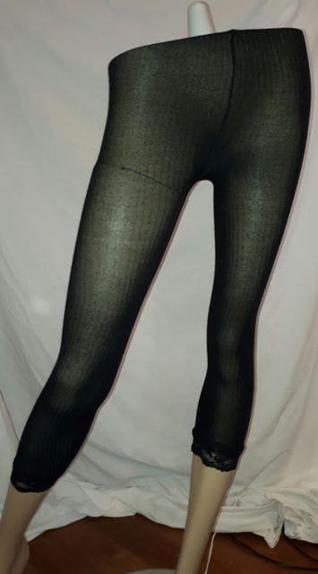 裾 レース レギンス タイツ  < 女性ファッションの