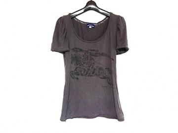 Burberryバーバリーブルーレーベル グレー半袖ロゴTシャツ