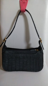 マットクロコダイル革の小さいバッグ中古品