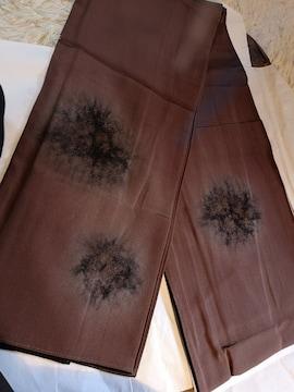 正絹袷の粋な茶色着物。
