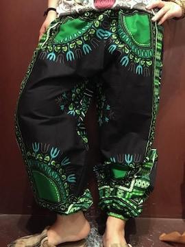 アフリカ民族衣装ダシキ柄アラジンパンツ★エスニック★アジアン