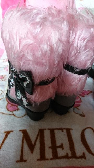 新品 ジュエルペットのブーツ  pink  15�p < キッズ/ベビーの