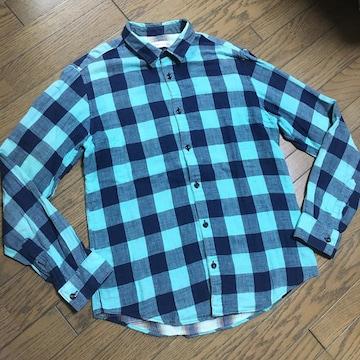 美品SHIPS JET BLUE チェックシャツ シップス