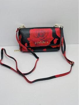 H176 DaTuRa ダチュラ バラ 花柄 ミニショルダーバッグ 長財布