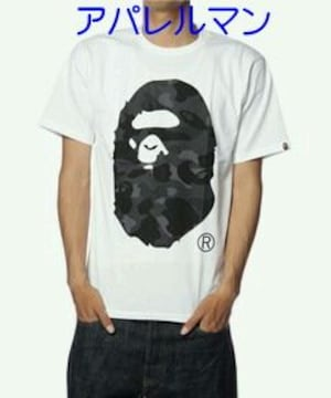 †APE†猿迷彩†大猿HEAD†Tシャツ†