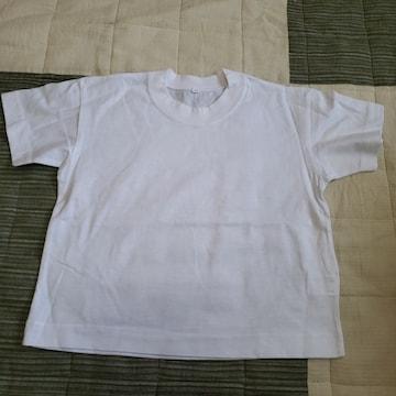 100cm 肌着? Tシャツ? 白 半袖 シャツ