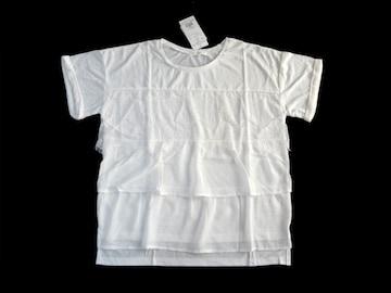 新品 定価1990円 THE SHOP TK 白 レース使い Tシャツ