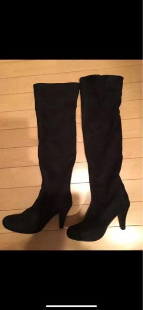 美品  スェードロングニーハイブーツ  S  < 女性ファッションの