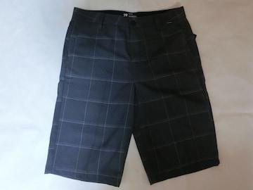 【Hurley】渋〜いブラック系チェック柄 ハーフパンツ 29インチ