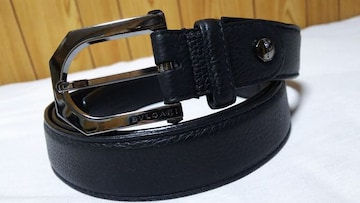 正規良 ブルガリ オクト スクエアバックルベルト黒 127cm 調節可 ルテニウムメタル メンズ
