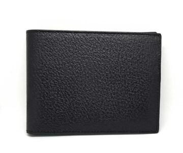 正規未使用グッチ財布二つ折りブラック黒レザーメンズ本