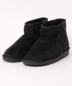 Norme フェイクムートンブーツ 黒 23cm