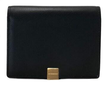 新品同様正規バーバリー二つ折り財布コンパクト財布ブラ