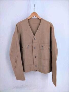 USED古着(ユーズドフルギ)60~70S 涙TALONジッパー ノーカラーワークジャケットジャケッ