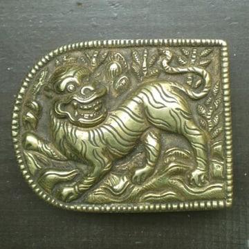 真鍮・銅製 バックル*虎*  ベルト金具