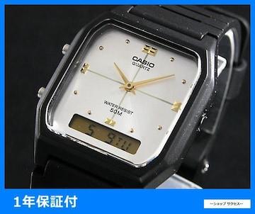 新品 即買い■カシオ アナデジ 腕時計 AW48HE-7A シルバー
