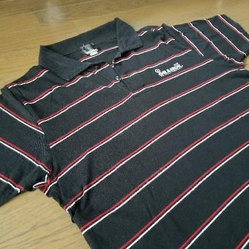 ★GRANDE製ボーダー柄ポロシャツ/Sサイズアスレタグランデ