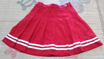 全品送料無料!JENNIラインスカート160赤