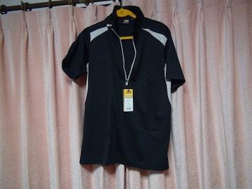 ASのポロシャツ(LL)ブラック&ホワイト新品タグ付き袋入り!。
