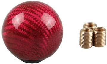リアルカーボン製 シフトノブ ボール型 直径50mm