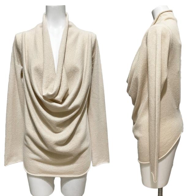 新品ステファネルSTEFANELカシミア100%セーター オフホワイト# < 女性ファッションの
