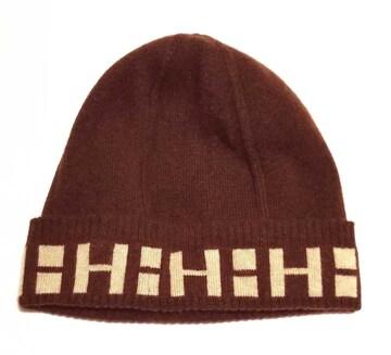 正規新品同様エルメスニット帽ニットキャップXLHロゴダー