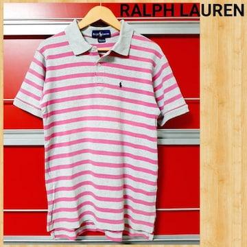 RALPH LAUREN ラルフローレン ボーダーポロシャツ USA製 レディース