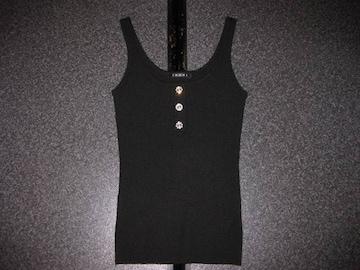 新品 INGNI イング タンクニットセーター 黒 ボタン付