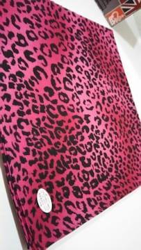 ◆新品◆バンダナ◆ヒョウ柄◆Black/Pink◆