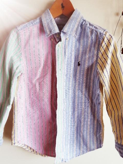 RALPH LAUREN。ストライプオックスフォードシャツ☆人気♪オシャレサン☆。゜男女可能  < ブランドの