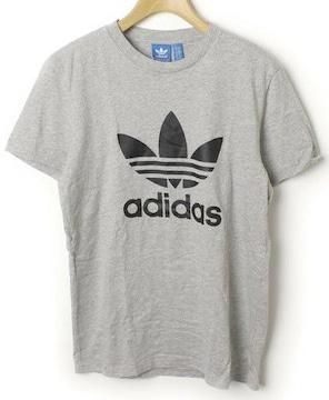 adidasアディダス☆グレーロゴマークTシャツ