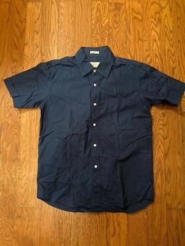 grand global シャツ 半袖 日本製 古着 ブルー