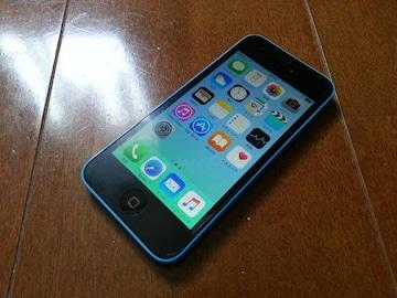即落/即発!!美中古品 iPhone 5c 16GB ブルー 完済
