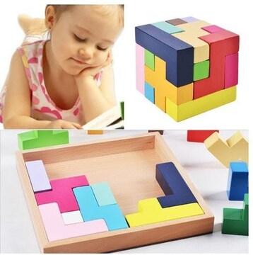 知育玩具 立体おもちゃ テトリスブロック 子供おもちゃ