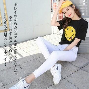 LLXL/新品☆ハイウエストレギパン,スーパーストレッチ/白31