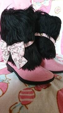 新品ジュエルペット のブーツ黒   15�p