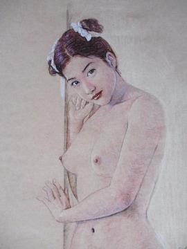 「裸婦055」の限定版画その2、エディション直筆サインあり
