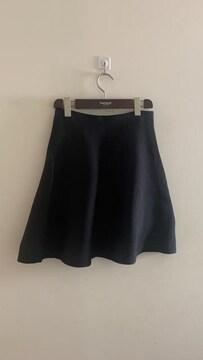 ナノユニバース Aライン フレアスカート ミニスカート 黒 F