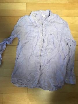 UNIQLO!X Lサイズ、パープルのシャツ