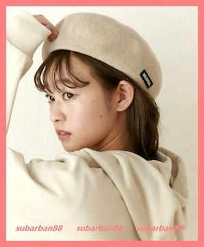 ☆ミルクフェド☆新品☆ロゴベレー帽 ベージュ☆