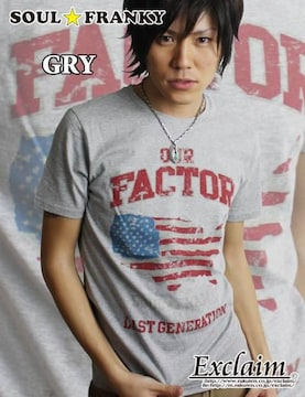 SOUL☆FRANKY 梅しゃん私物 FACTOR Tシャツ/S