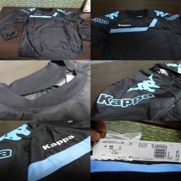 M 黒)カッパ★ピステ長袖 KF652XT01 トライアルトップ 丸首 薄手