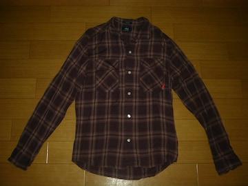 WTAPSダブルタップスVATOSチェックシャツS紫系レーヨン