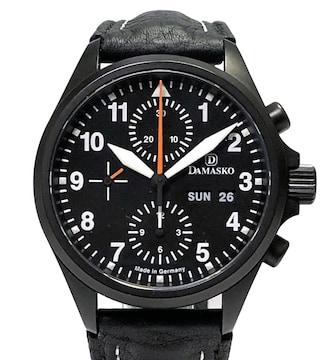 新品同様正規DAMASKO時計クラシックパイロットクロノグラフD