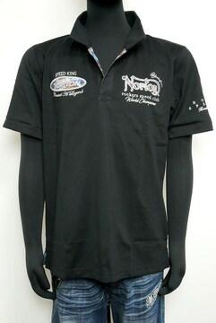 新品Norton MIXスチールポロシャツ黒 L 吸水速乾212N1205