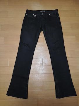 BACK BONE バックボーン ブラック デニム W33 黒 エンブレムロゴ