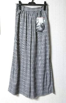 イング★ベルト付き グレンチェック柄 ワイドパンツ